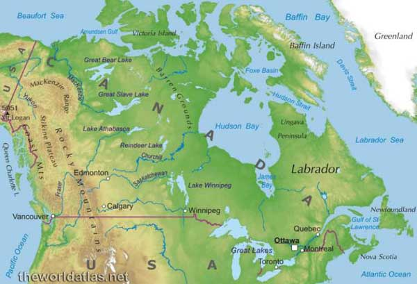 Map Of Canada Mountains.Rocky Mountains Rocky Mountains In Canada Map